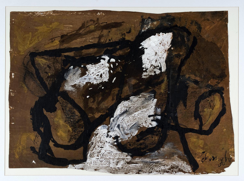 o.T. | 1980 | Mischtechnik auf Papier | 56 x 77 cm