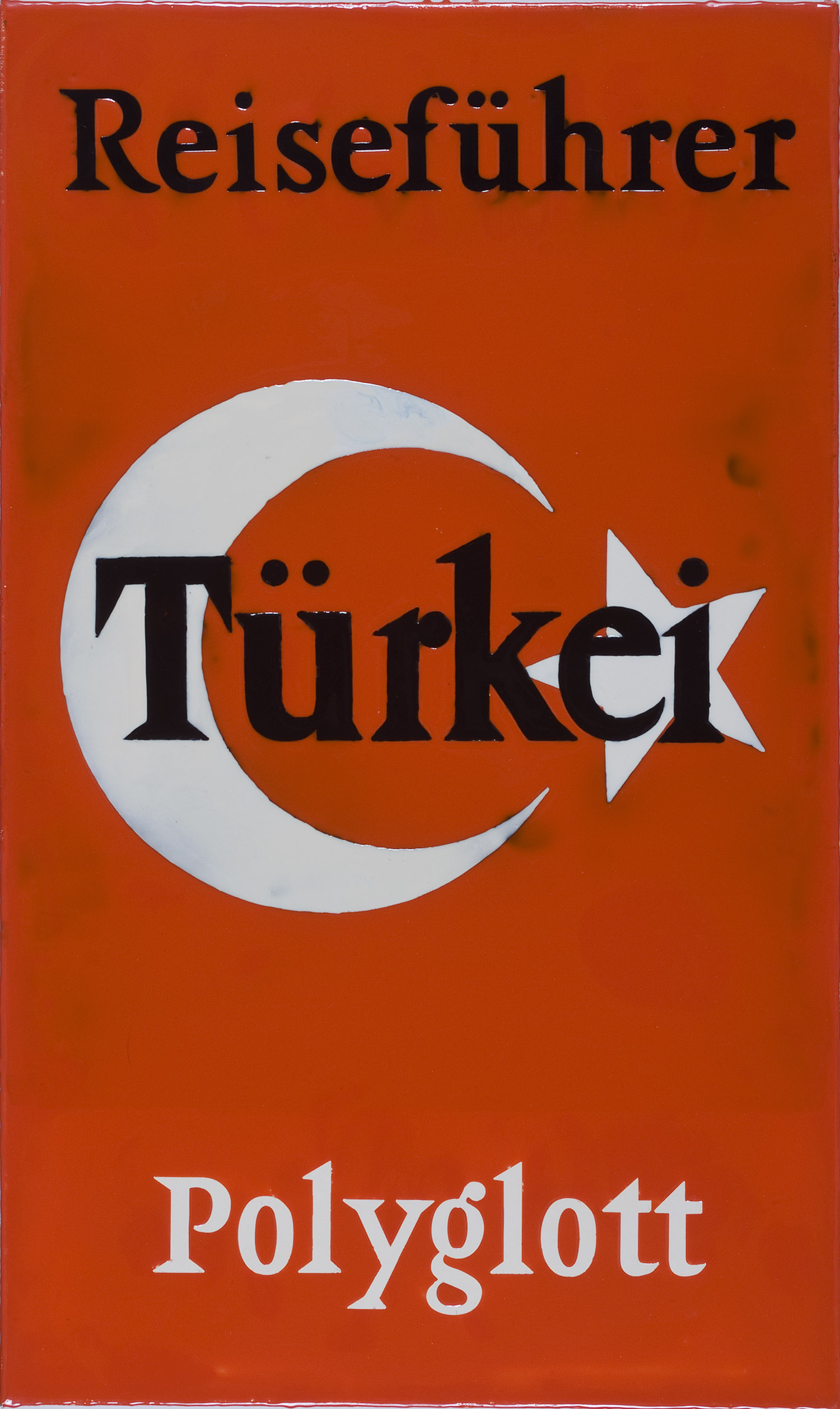 Reiseführer Türkei | 1992 | Epoxydharz auf Leinwand | 80,5 x 48 cm