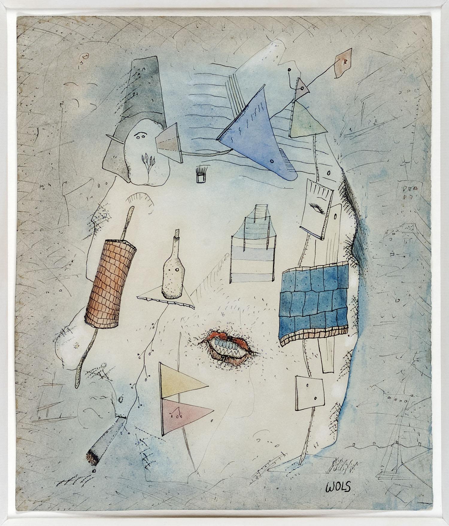 Mille problèmes dans la tête | 1940 | Wasserfarbe, Deckweiß und Tinte auf Papier | 31 x 26 cm