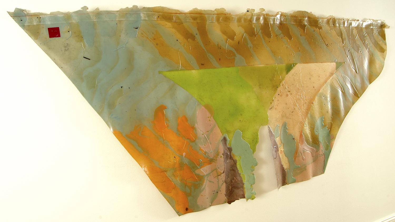 Untitled | 1967 | Unpigmentiertes Latex auf Gewebematte | 109 x 248 cm