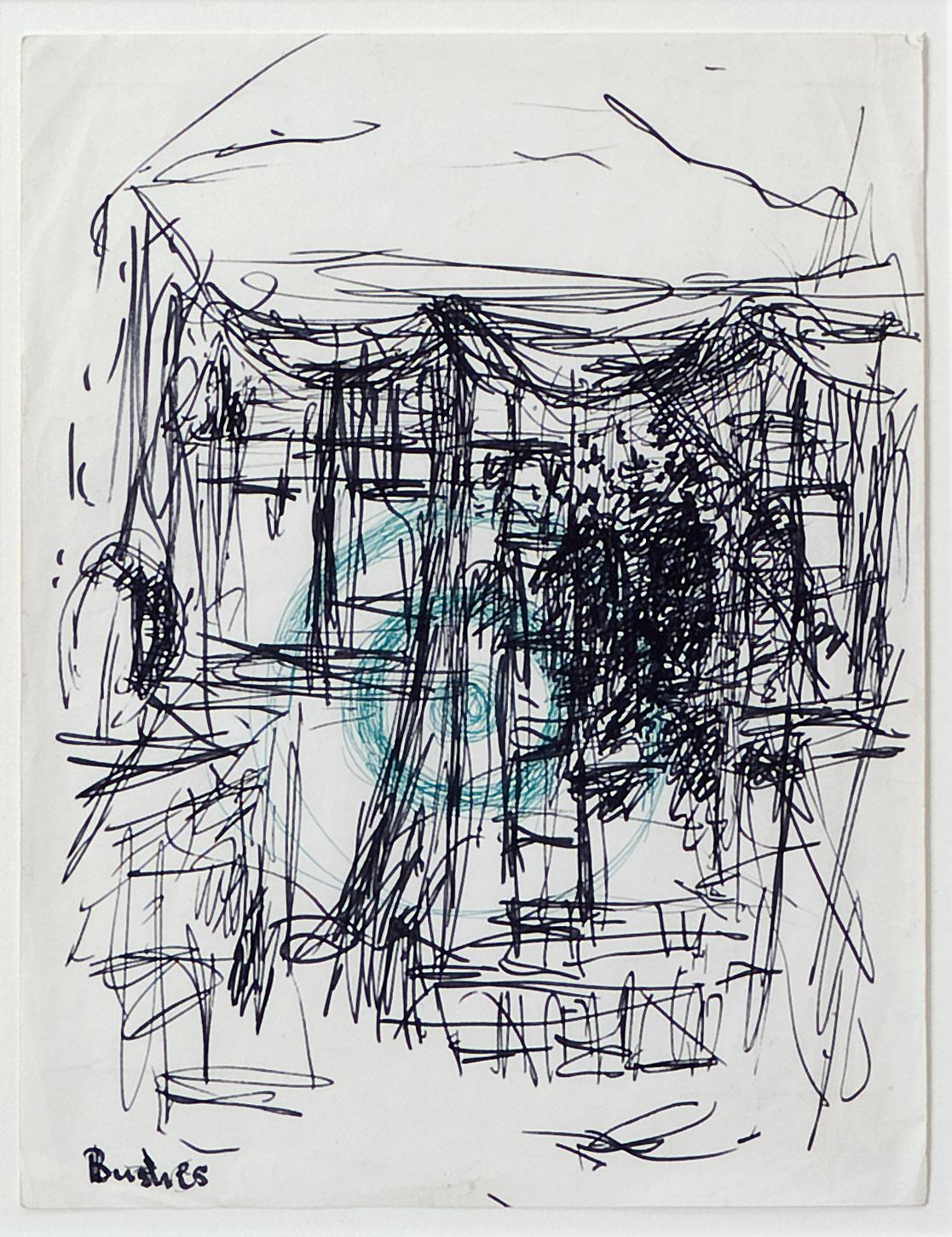 o. T. (Bushes) |n.d. | Filzstift und Faserschreiber auf Papier | 27,5 x 21,5 cm