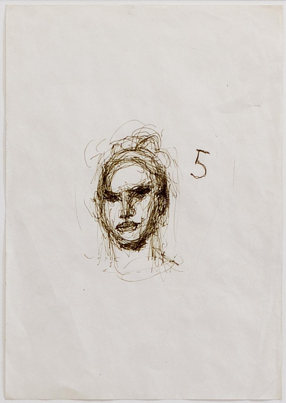 o.T. (Portrait) | 1994 | Filzstift auf Papier | 29,5 x 20,5 cm