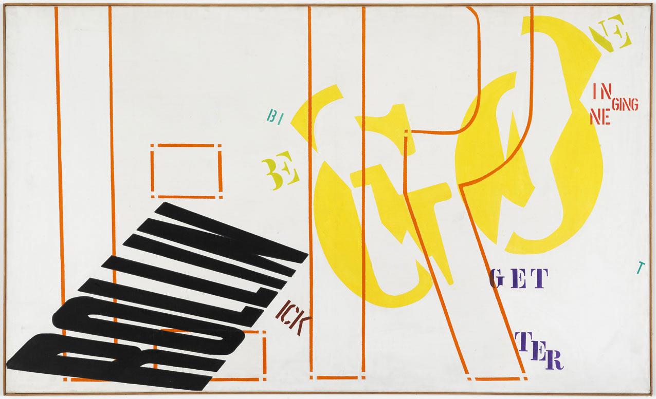 Poem Painting | 1965 | Acryl auf Leinwand | 121,5 x 201 cm