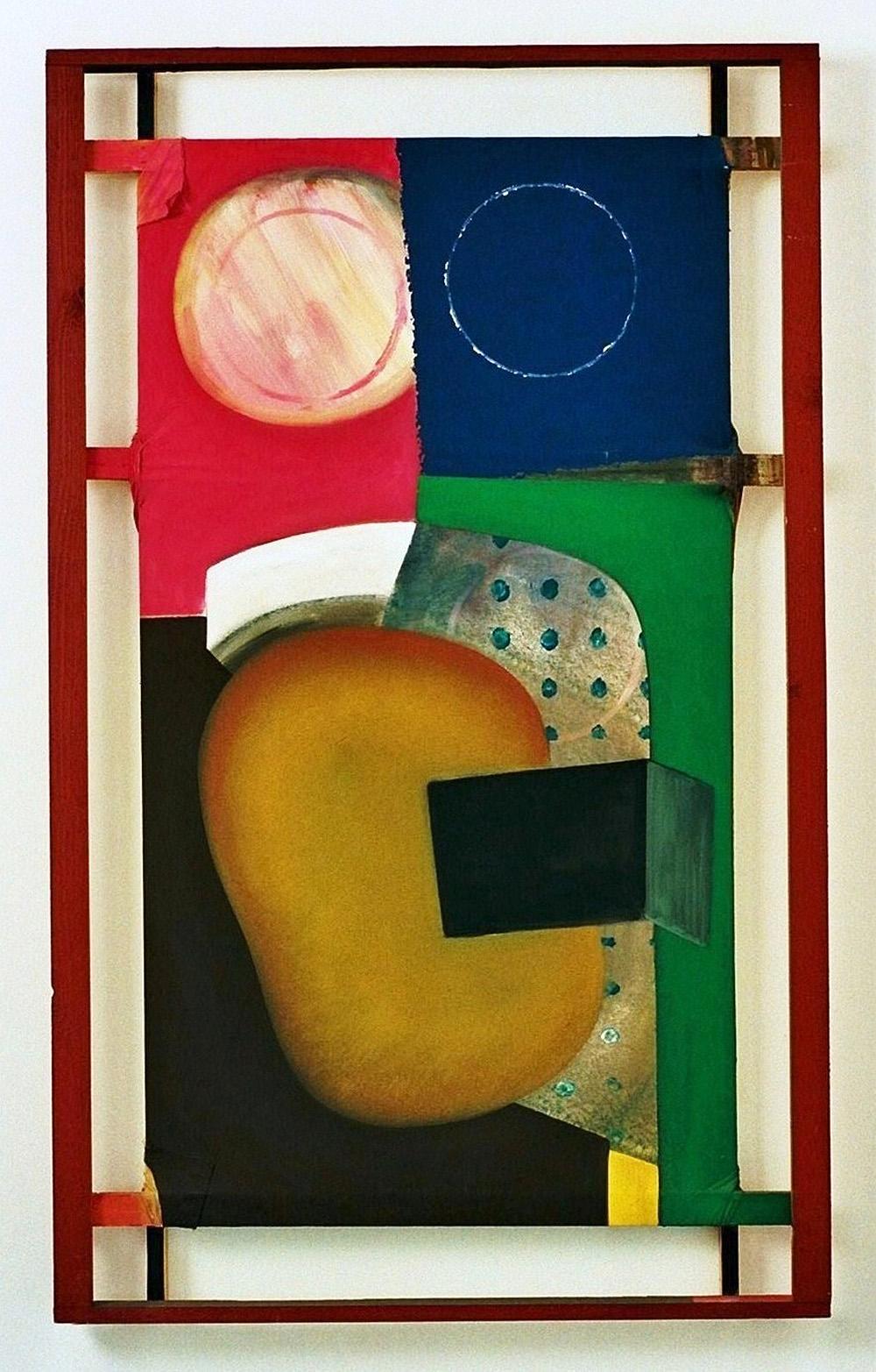 o.T. | Dispersion auf Nessel und Holz | 1986 | 140 x 85 x 8 cm