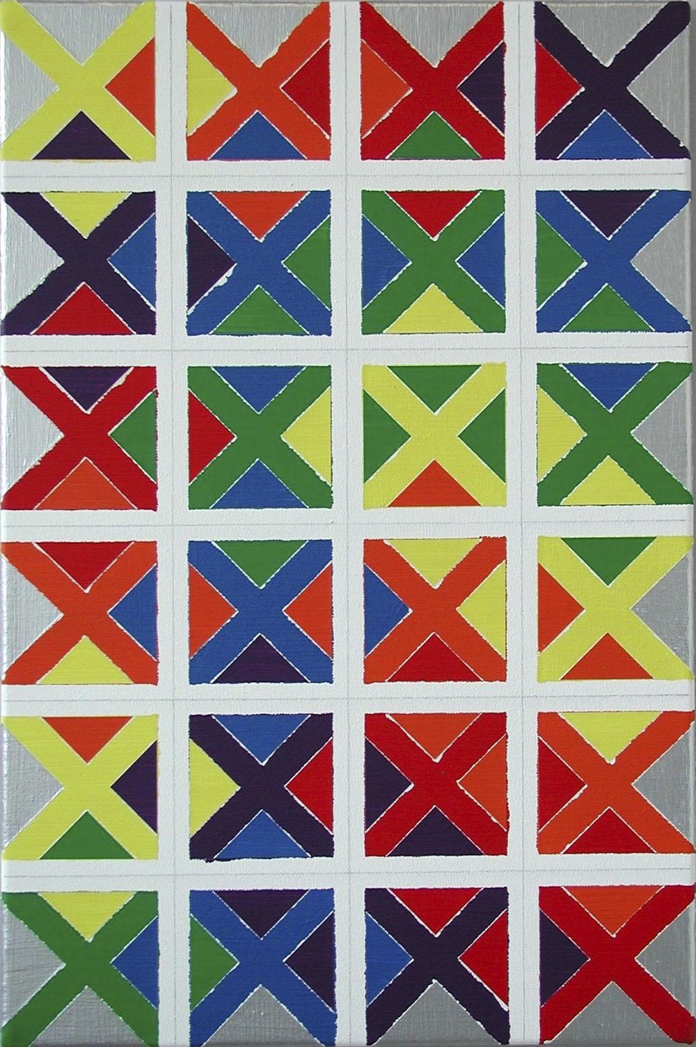 dezimal-33 | Acryl und Graphit auf Leinwand | 2000 | 60 x 40 cm