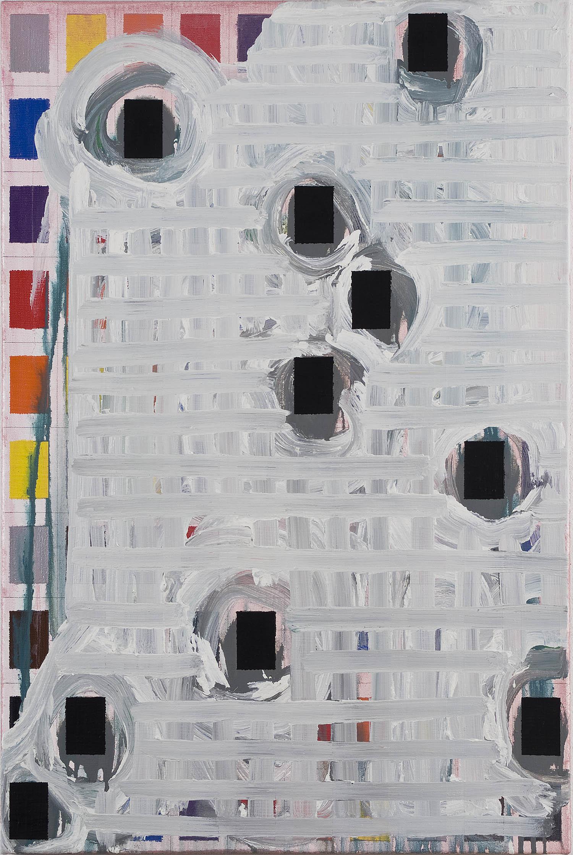 Bild-36 (multiple choice) | Acryl und Graphit auf Leinwand | 1999/2007 | 90 x 60 cm