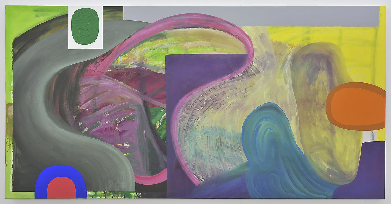 Bild-27 (Panoramafenster) | Acryl auf Leinwand | 2007 | 140 x 275 cm