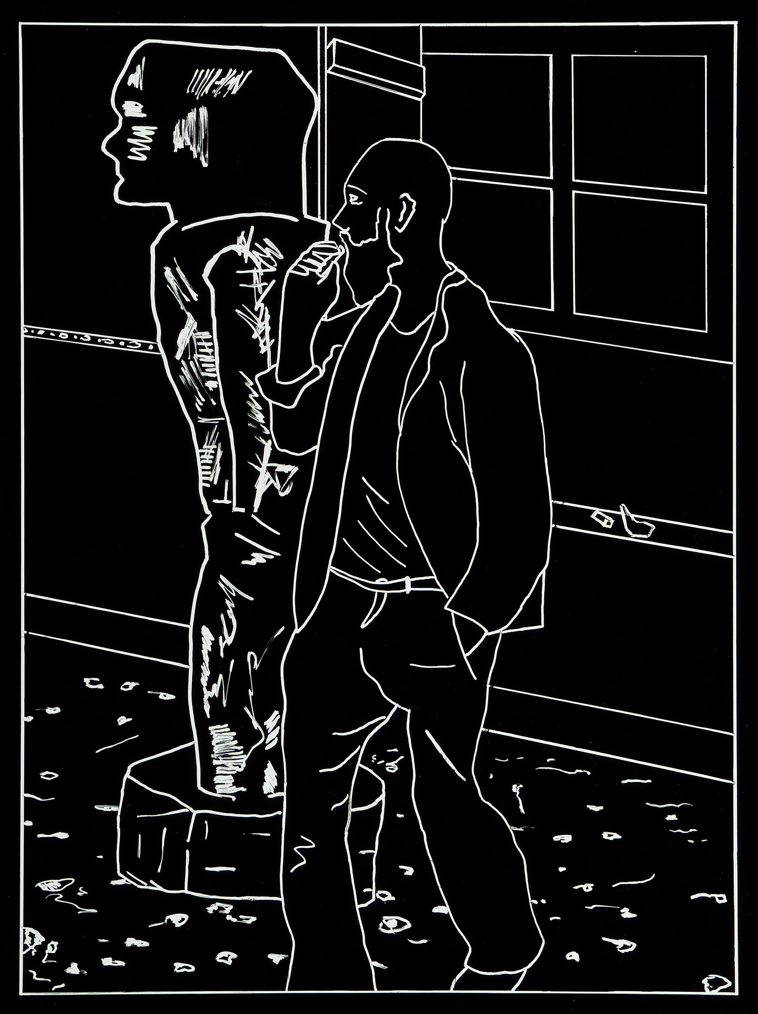 Der Besuch (8) | 1993 | Photogramm | 46,5 x 35,5 cm