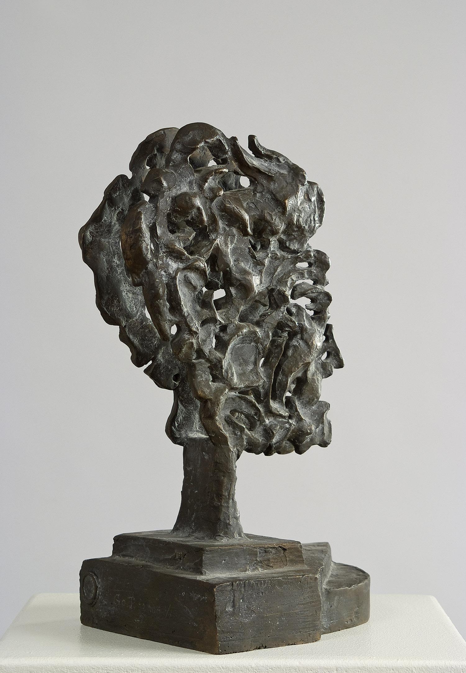 Schizo-Kopf | 2005 | Bronzeplastik | 33 x 15 x 22 cm