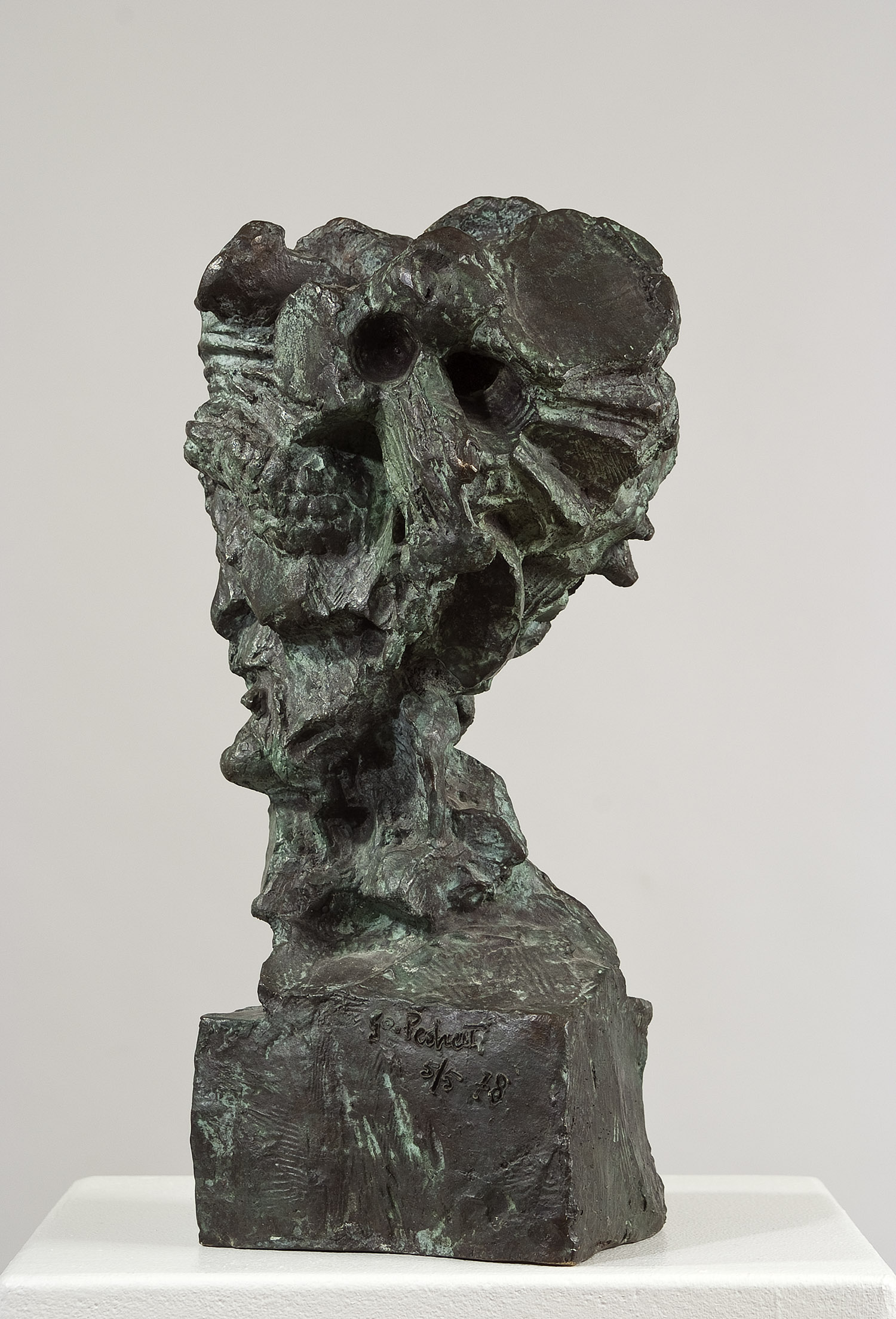 Der Philosoph | 1978 | Bronzeplastik | circa 38 x 14 x 20 cm