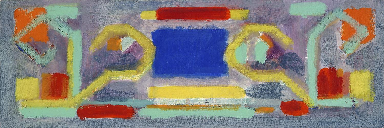 Untitled |1986 | Öl auf MDF | 14 x 39,5 cm