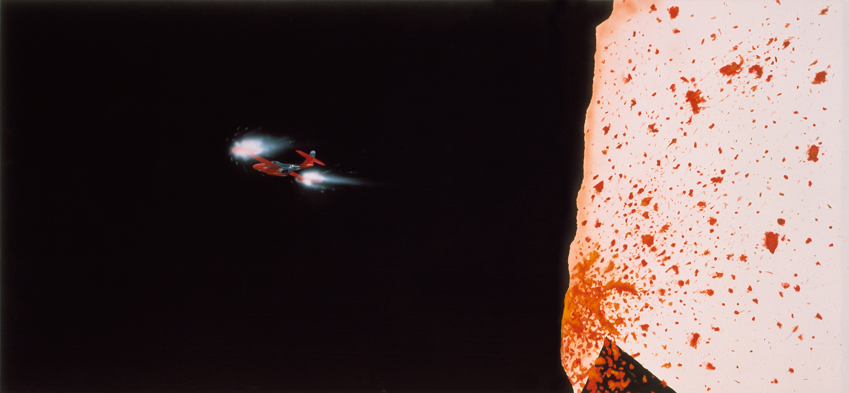 o.T. (Diptychon)   1980   Acryl auf Leinwand   127 x 268 cm
