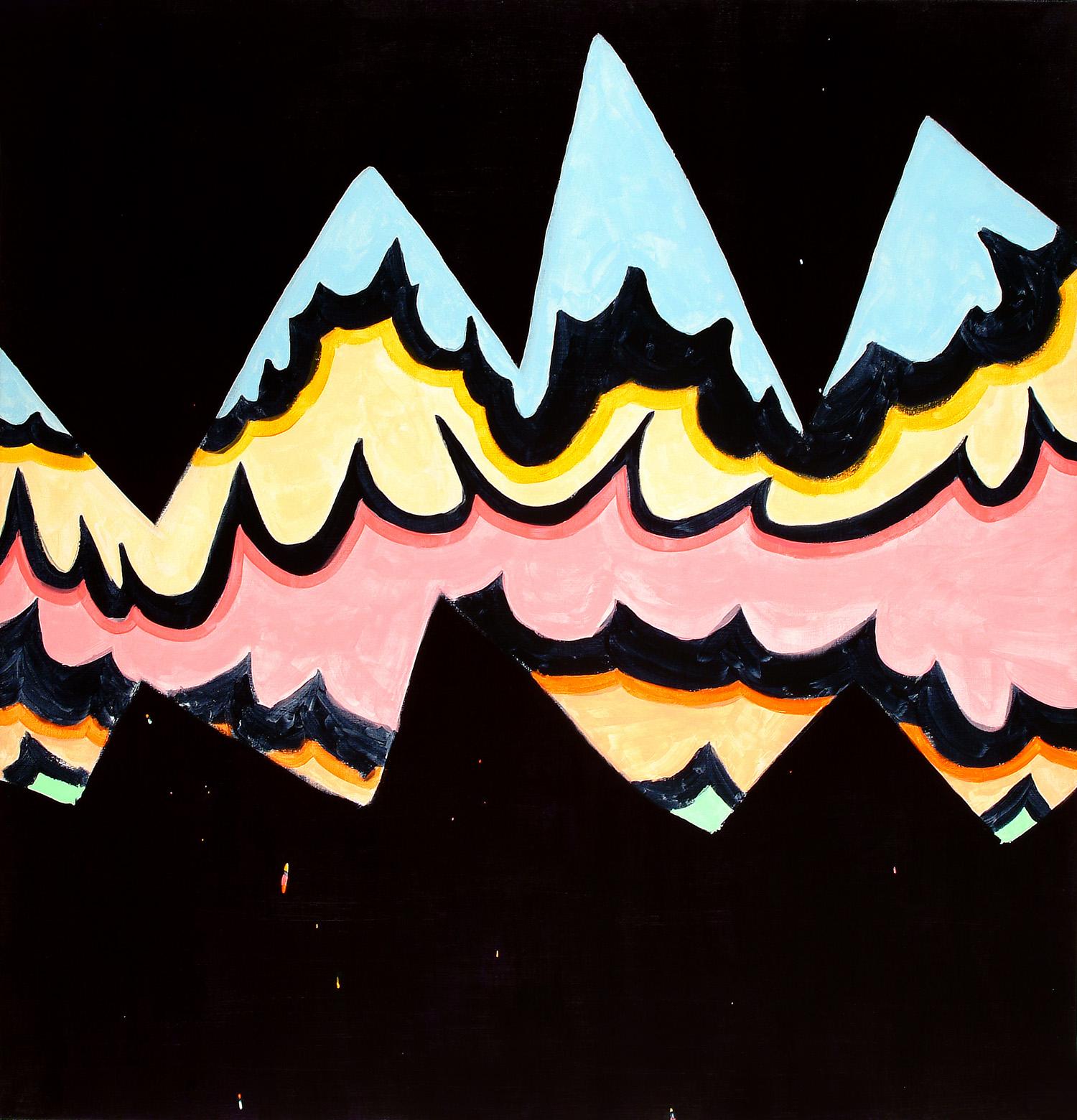 Big Rock Candy | 2006 | Acryl auf Leinwand |112 x 107 cm