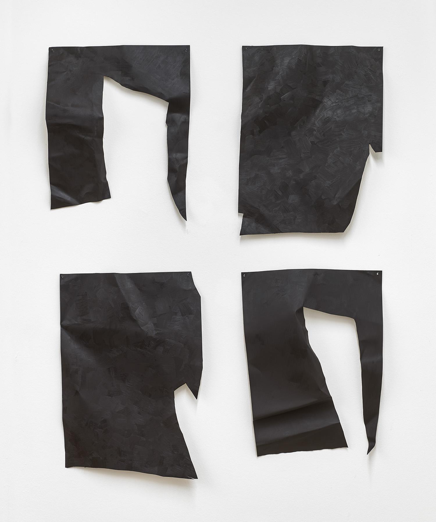 entfesselt | 2009 | Öl auf Aluminium, vierteilig |150 x 110 x 8 cm | x