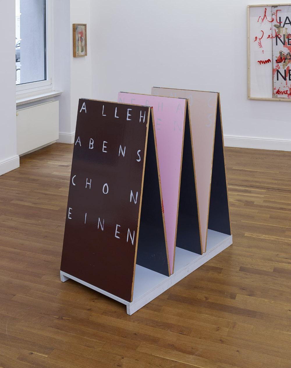 o.T. | 2011 | Holz, Lack | 122 x 117 x 56,5 cm