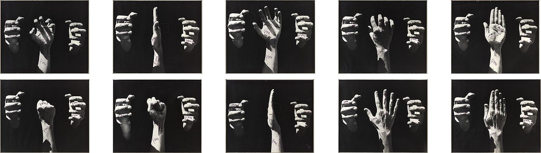 You You | 1975 | Fotografien, Filzstift | 10 Bilder je 50 x 60 cm