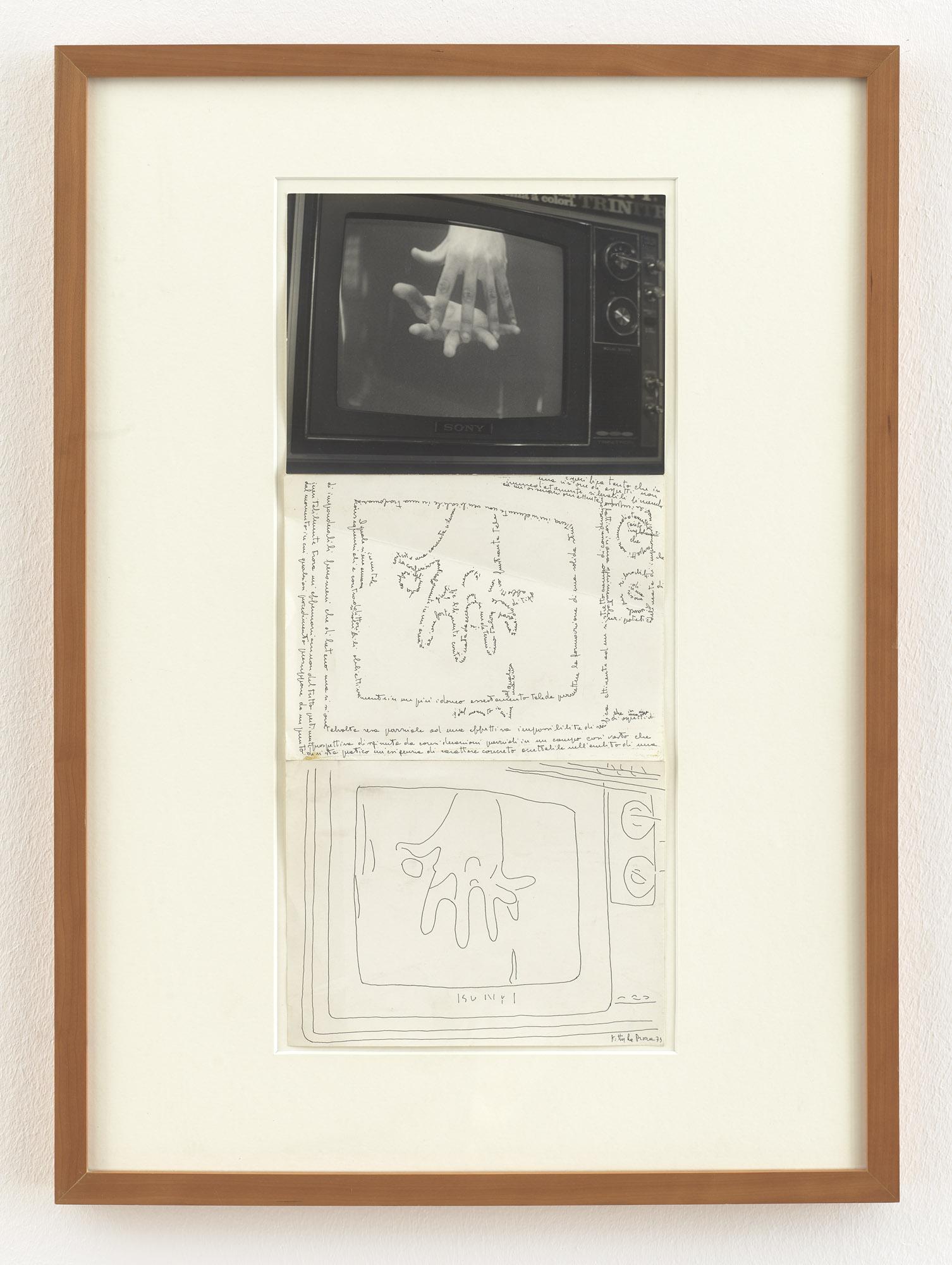 Video Sony di mani | 1973 | Fotografie und zwei Federzeichnungen | 53 x 23,5 cm