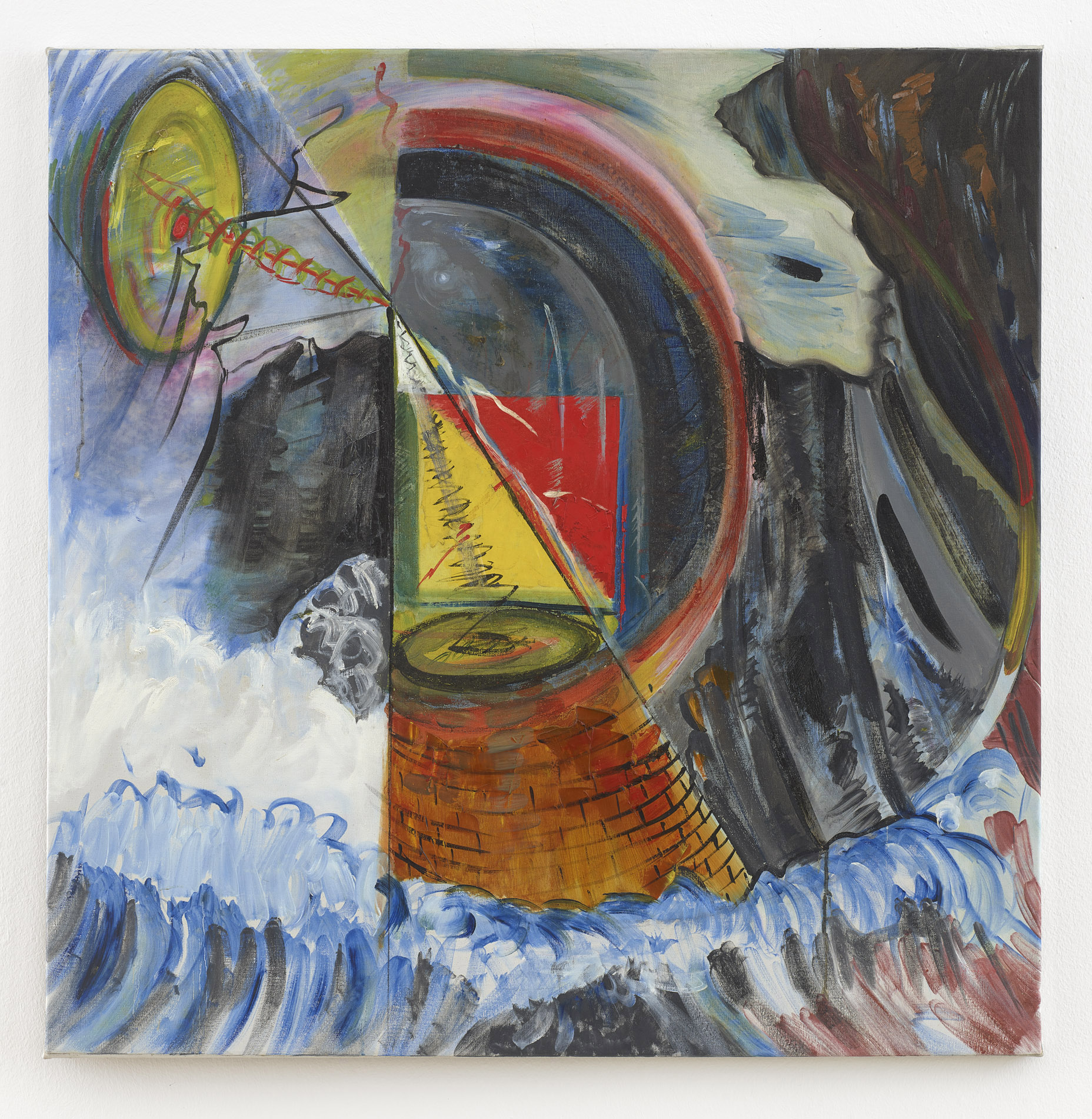 o.T. | undatiert | Acryl auf Leinwand | 102 x 100 cm