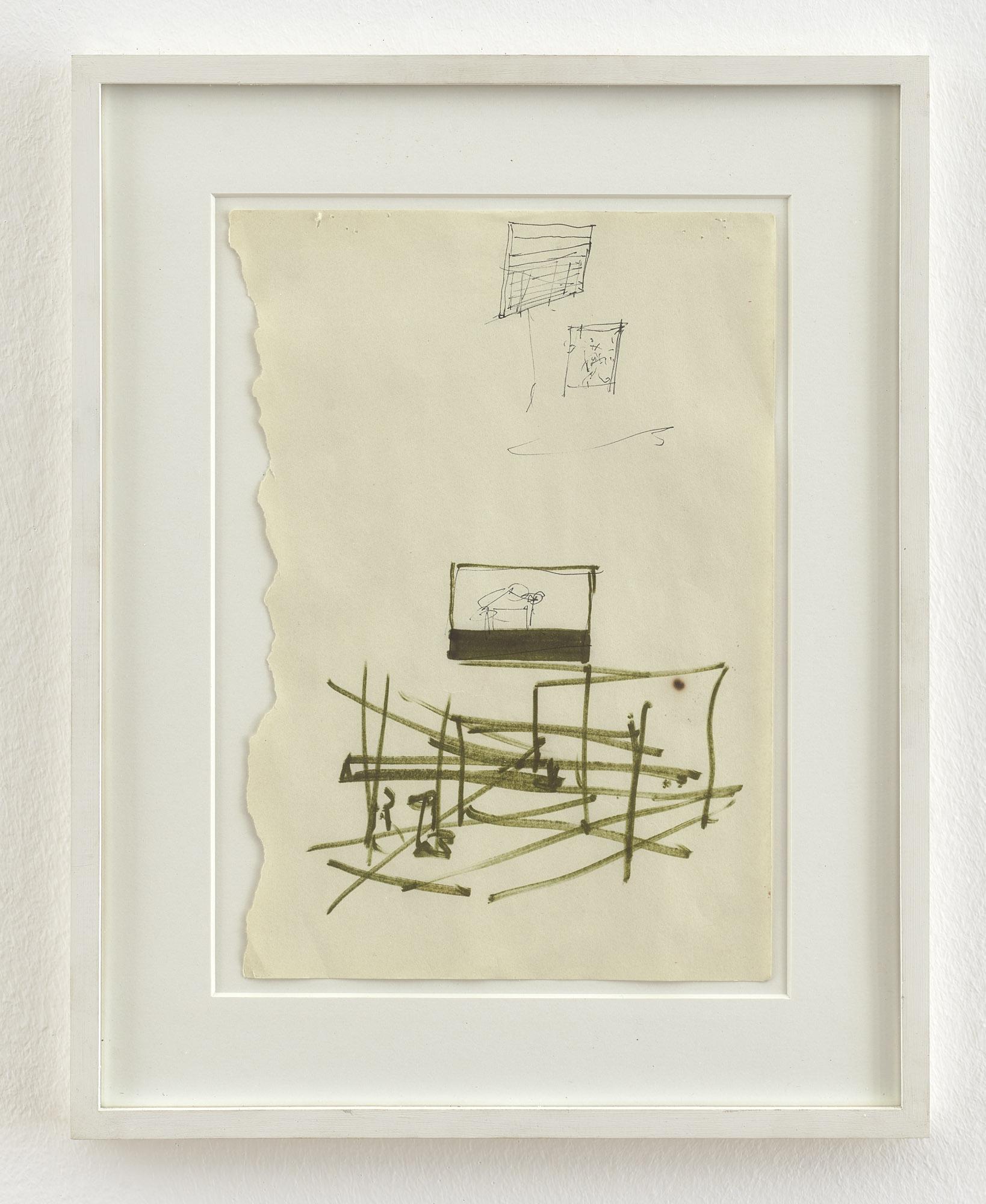 o. T. (Kleine Bühne) | 1999-2000 | Filzstift auf Papier | 29 x 21 cm