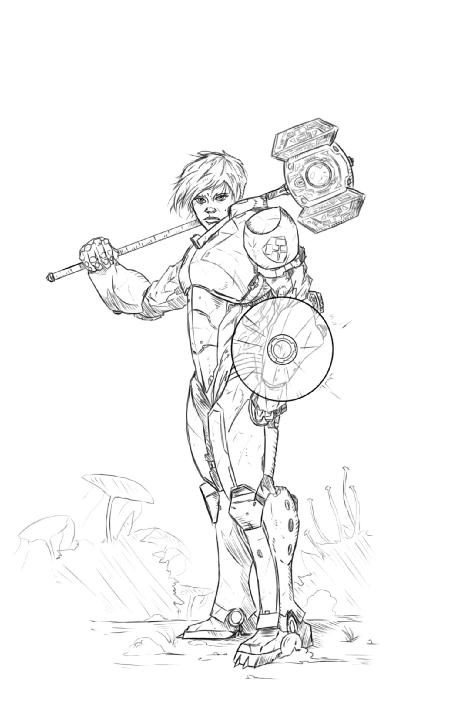 Captain Thorne - The Power Warden. Melee DPSers of the Warden Corps