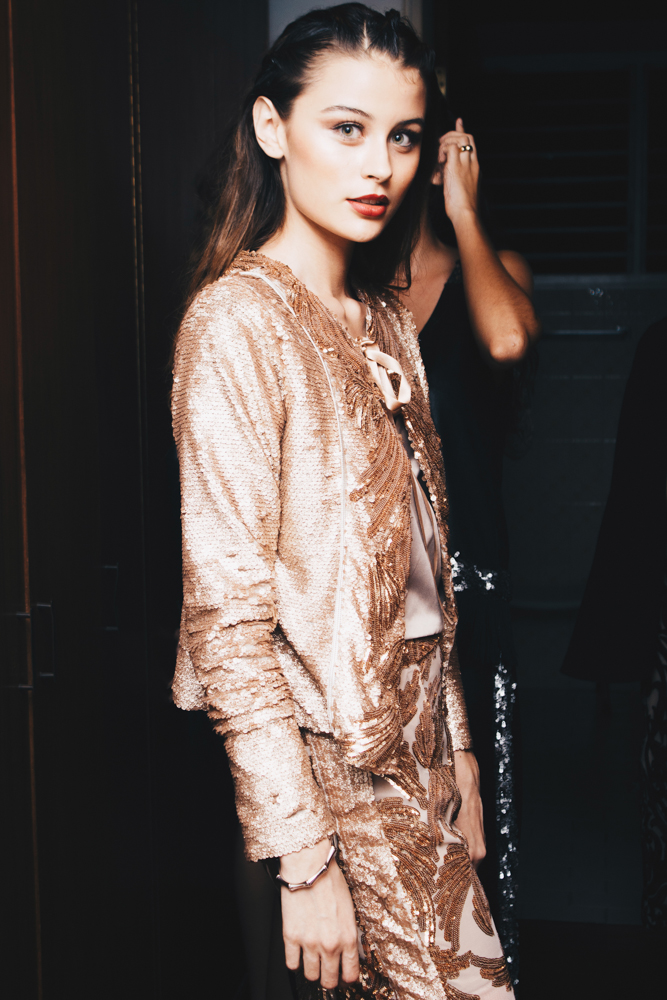   @mariaisabelgonzalezc ready to shine in Rose Gold Sequins   - #SPECTRUM#FALLWINTER16 #SHINEYOURLIGHT