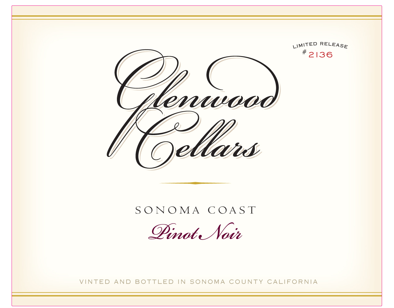 2015 Pinot Noir - 2015 was a year of exceptionally low Pinot Noir yields all across Sonoma, with small clusters and tiny berries providing impressive color, concentration, structure and tannin to the finished wines. Delicate and tightly wound aromas of dark berry, cola nut, mint, rose petal and fresh earth are refined and captivating. One sip reveals the serious intensity of the vintage, with gorgeous palate presence and tremendous length revealing dark cherry, black raspberry, cola and cloves, and a hint of black licorice completing the ensemble. Immensely satisfying now, this Pinot should also age nicely in your cellar for another 3 to 5 years!