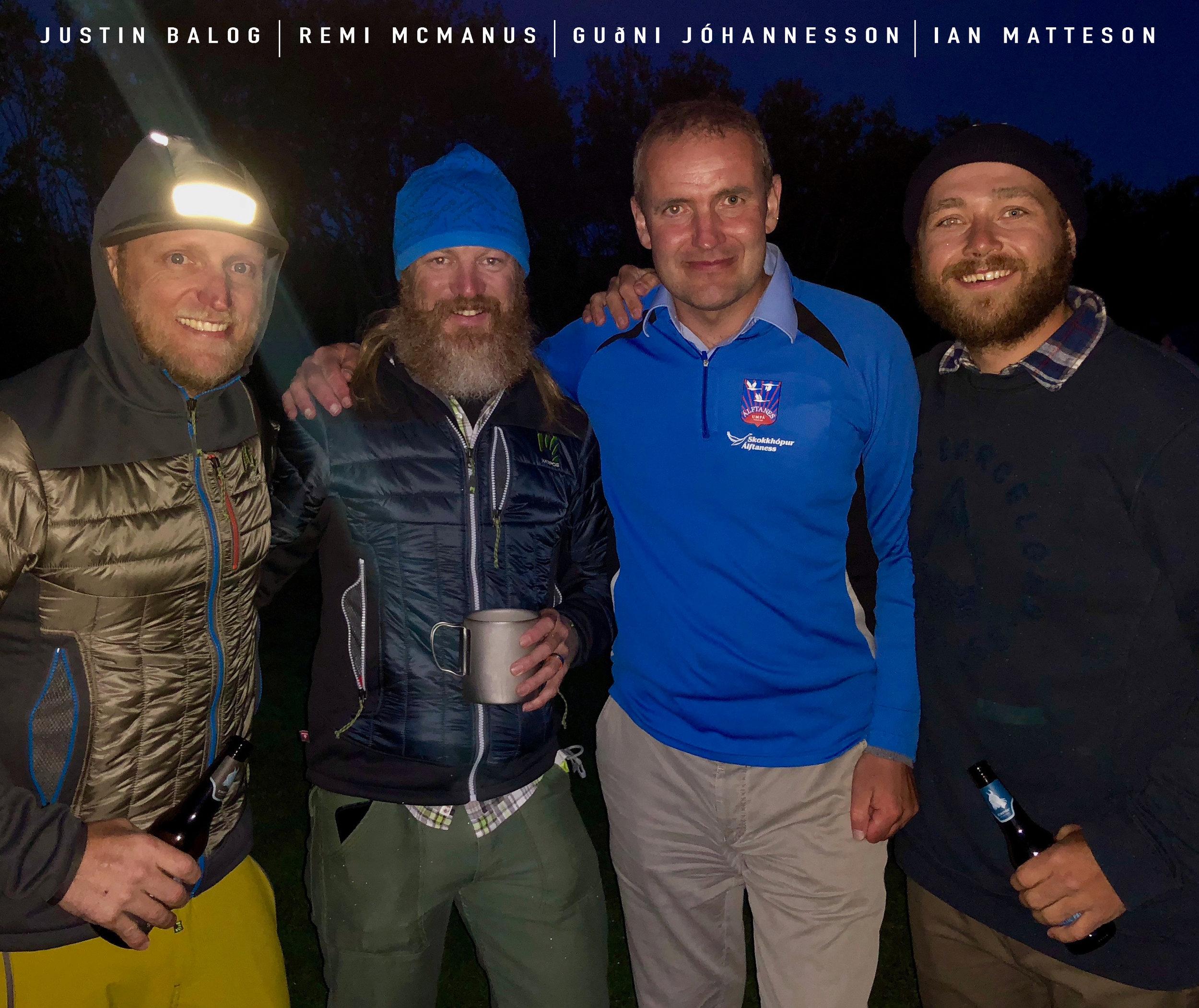 LEFT TO RIGHT: Justin Balog, Remi McManus, Guðni Th. Jóhannesson, Ian Matteson