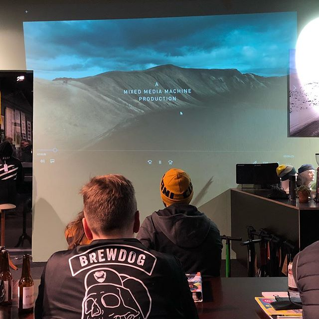 Fired up to see our work making it back to the place it was made. Thanks to everyone who came out to see the official trailer of @sharedterritory Thanks to the folks at @kriacycles for hosting us!