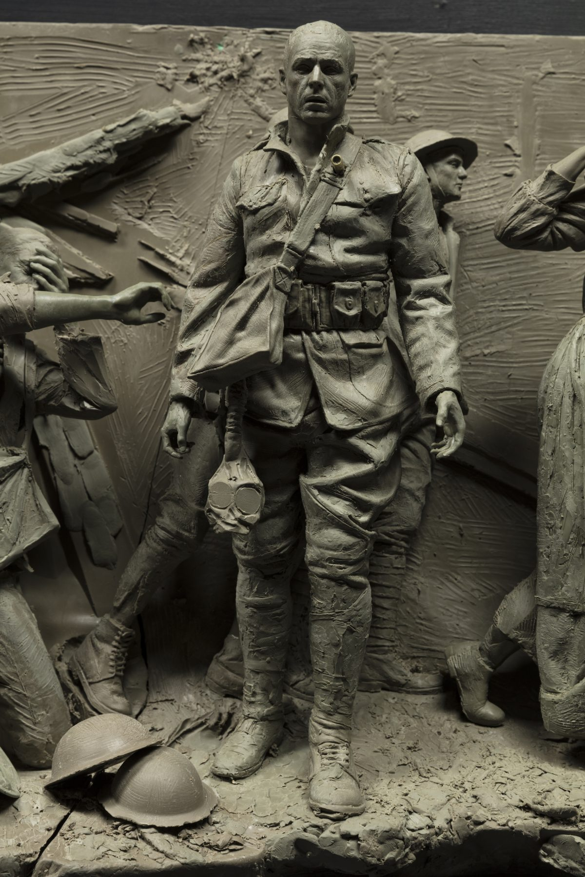 Detail from the maquette for the National World War I Memorial.