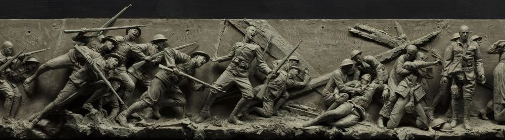 Middle of the maquette for the National World War I Memorial.