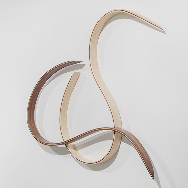 Harold Linton,   Reverse S-Curve,  Red Oak and Maple, 2019