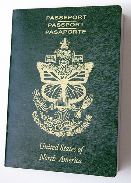 Erika Harrsch,   United States of North America Passport , 2016 Mixed Media 8 × 6 × 2 1/4 in 20.3 × 15.2 × 5.7 cm