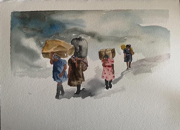 Nohemi Perez   Untitled , 2019 Watercolor on paper 29 x 39 cm