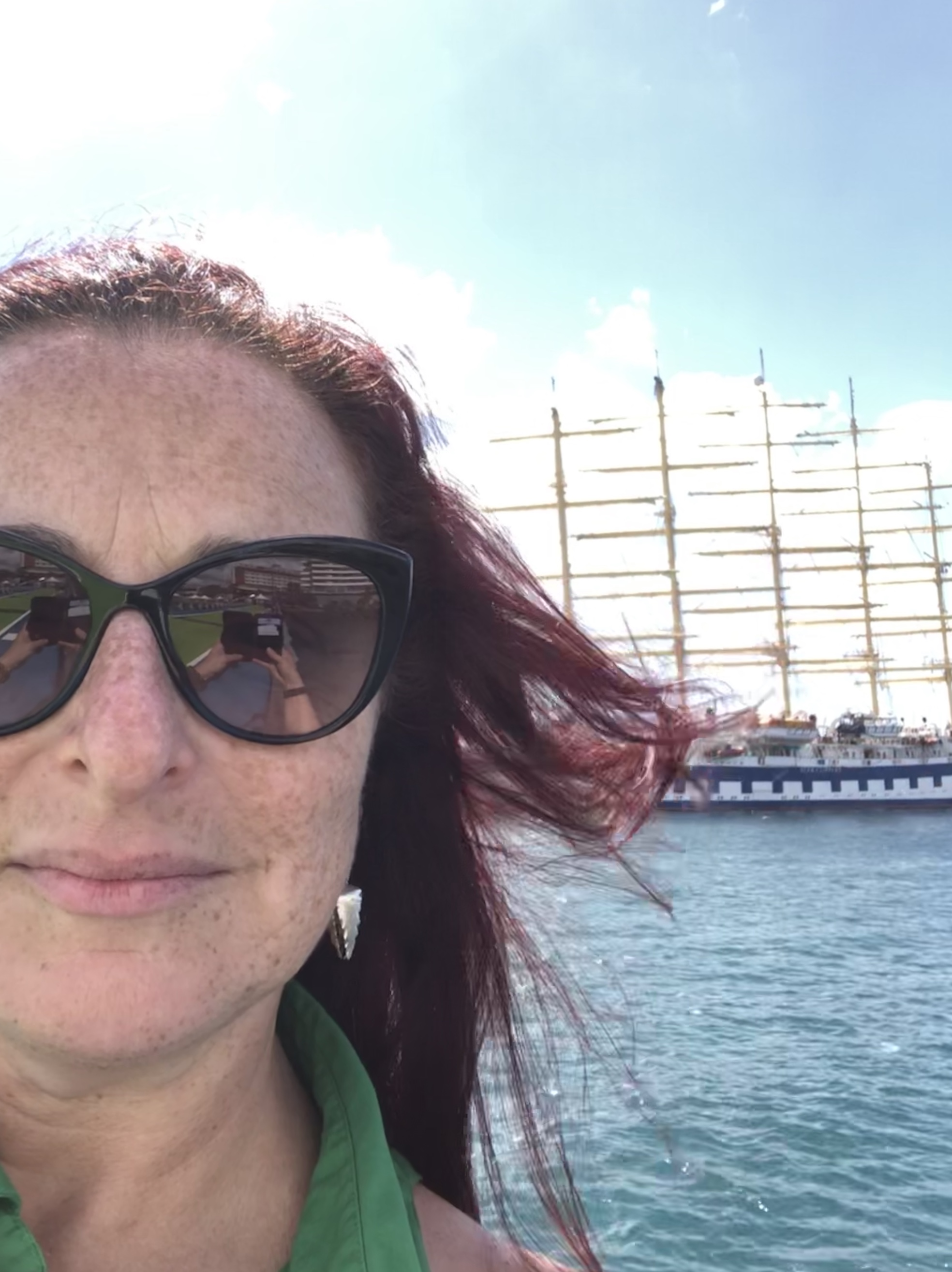 "leading a tour in the eastern caribbean islands for  journeys by van dyke  on board the mighty tall sailing ship ""royal clipper"", january 2019."