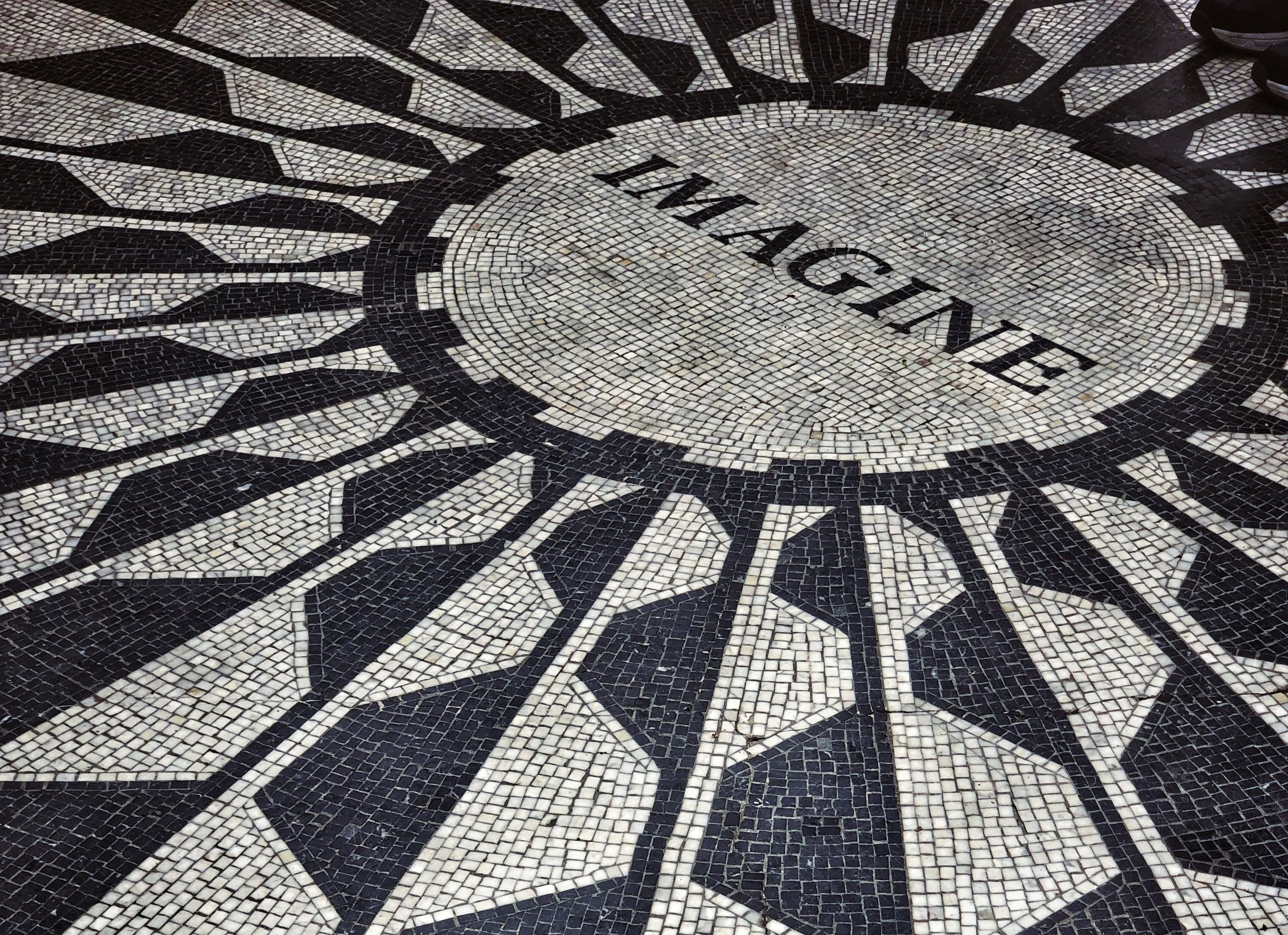 Strawberry Fields - The memorial to John Lennon in Central Park.Photo by Miriam Bourin/Global Local Traveler