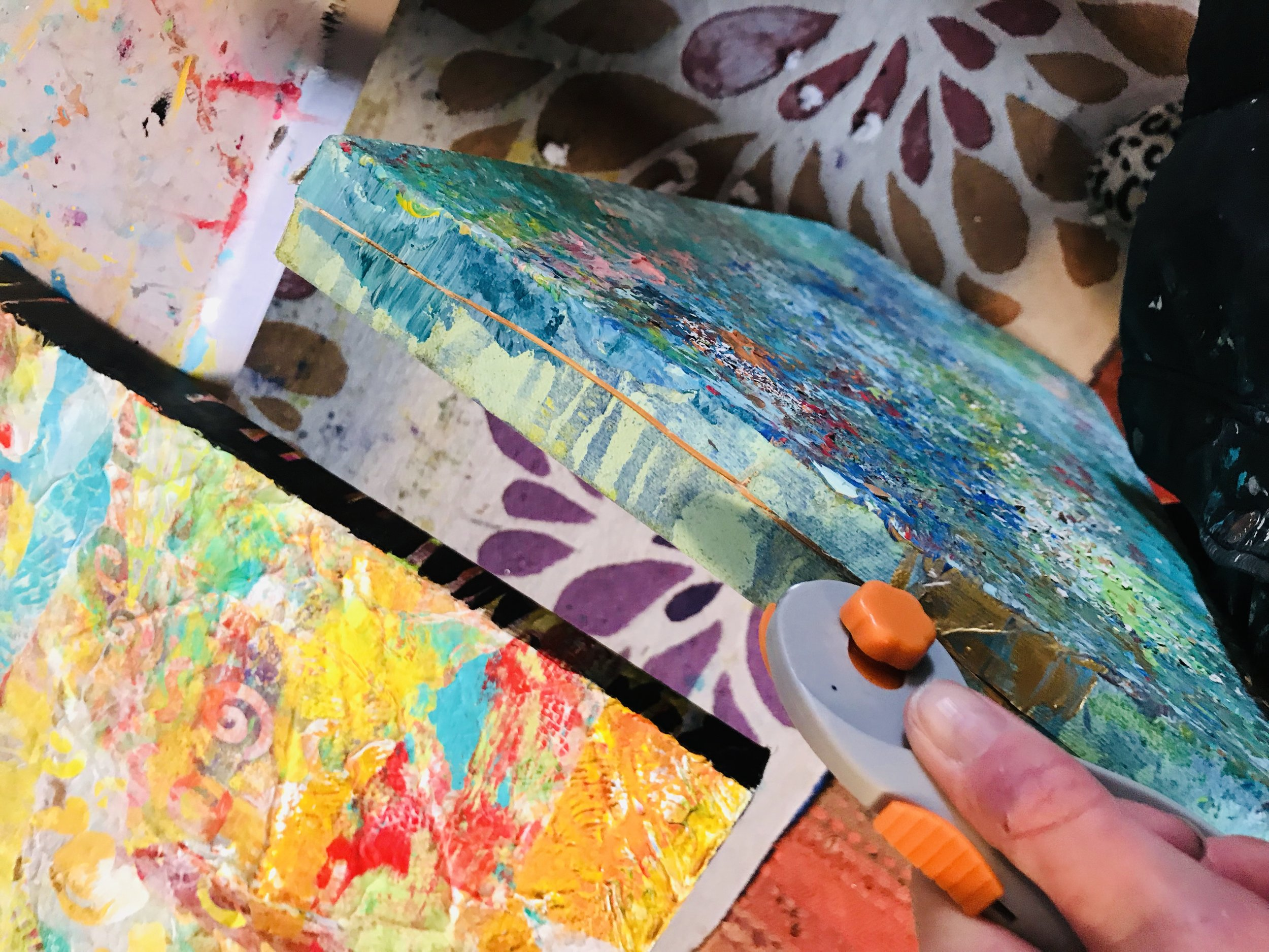 The joy of removing the canvas from its traditional setting -