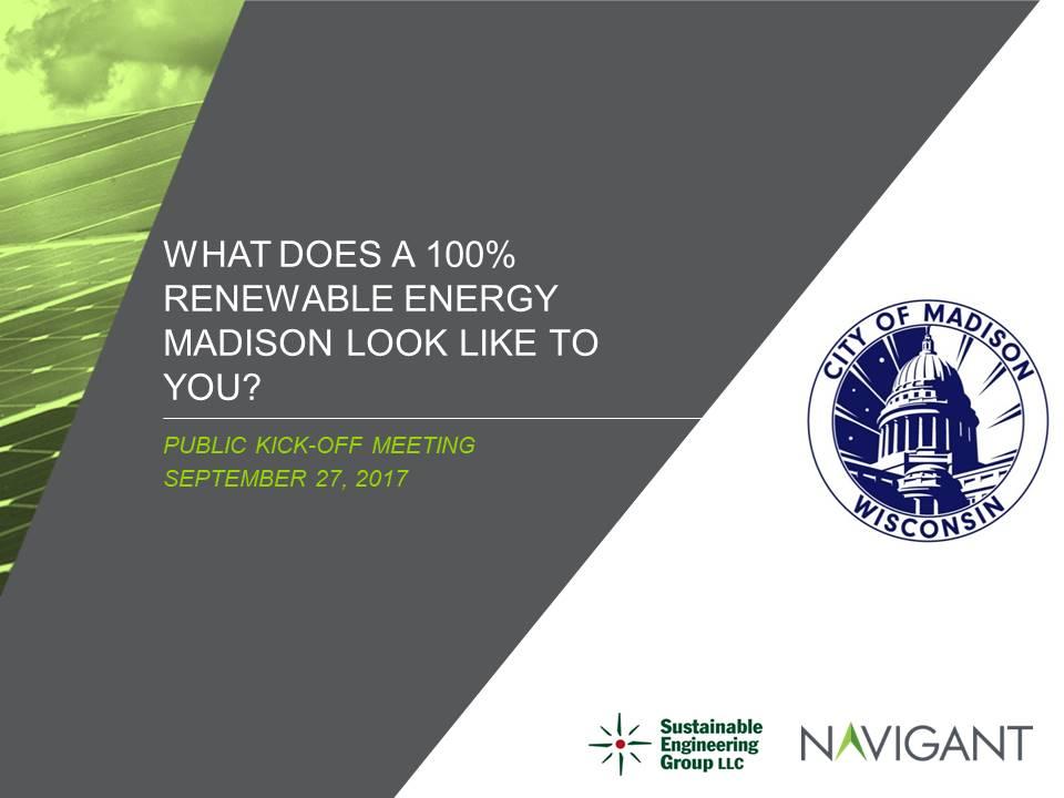 Public Kick Off Meeting - Slides - September 27, 2017
