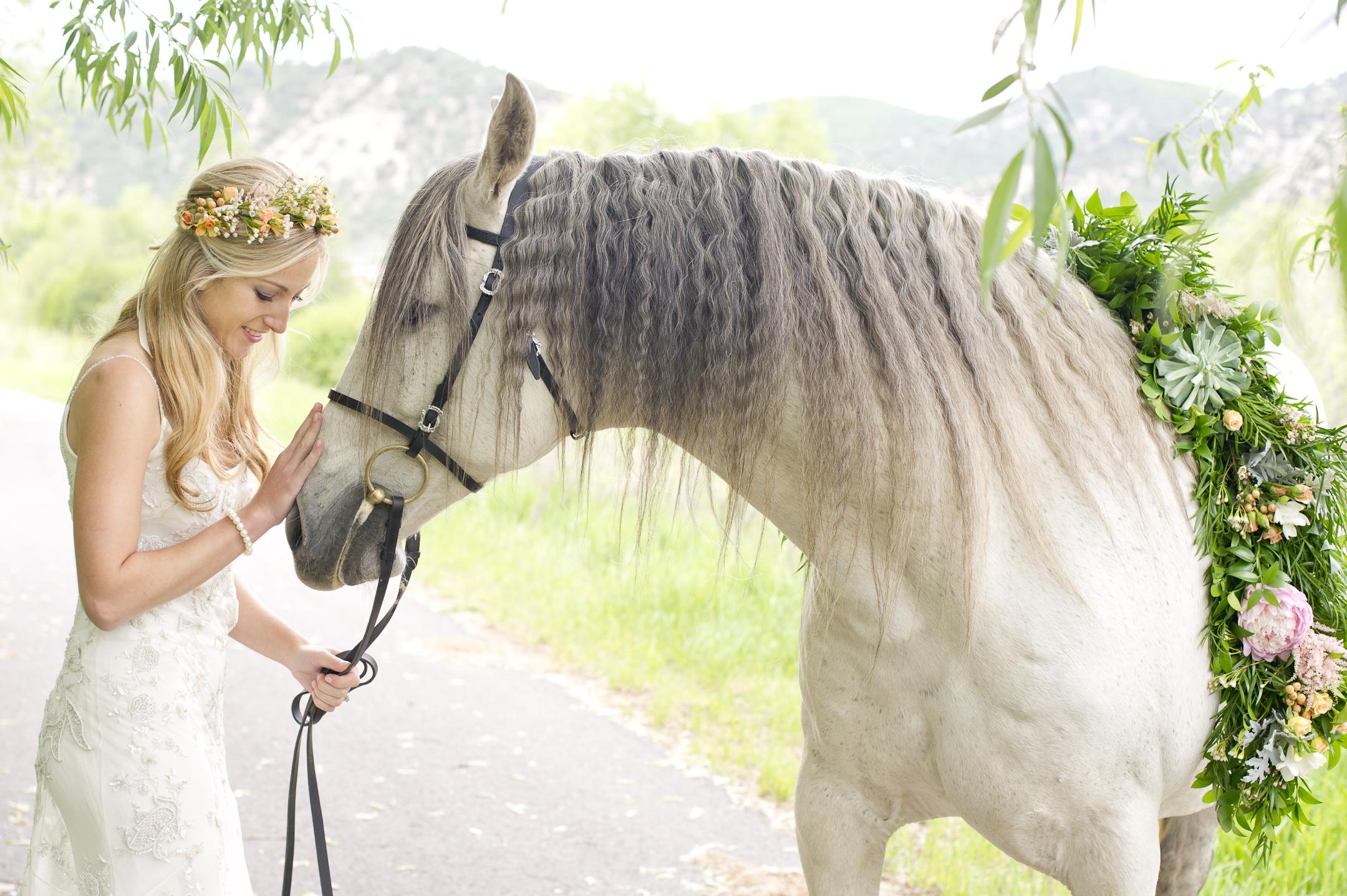 wedding flowers for horses