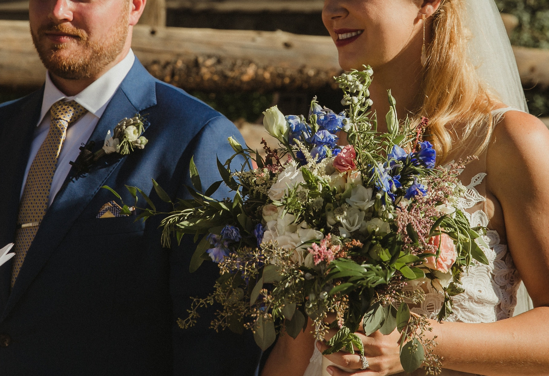 french wildflower wedding bouquets colorado