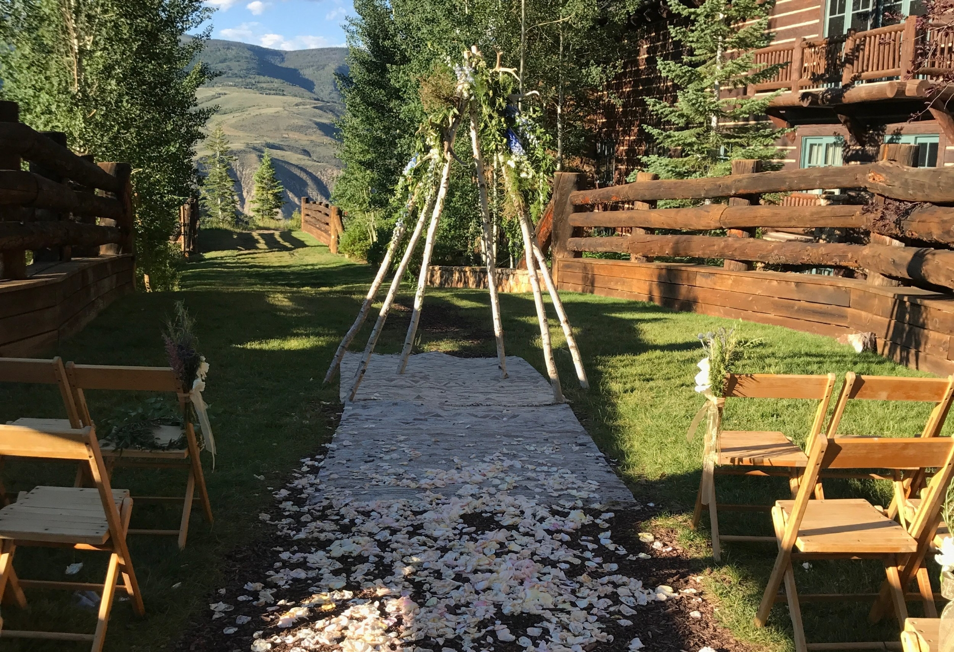 wedding tepee colorado florist