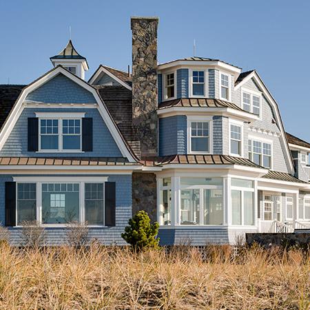 Hurlbutt Designs Kennebunk home just steps to the beach.