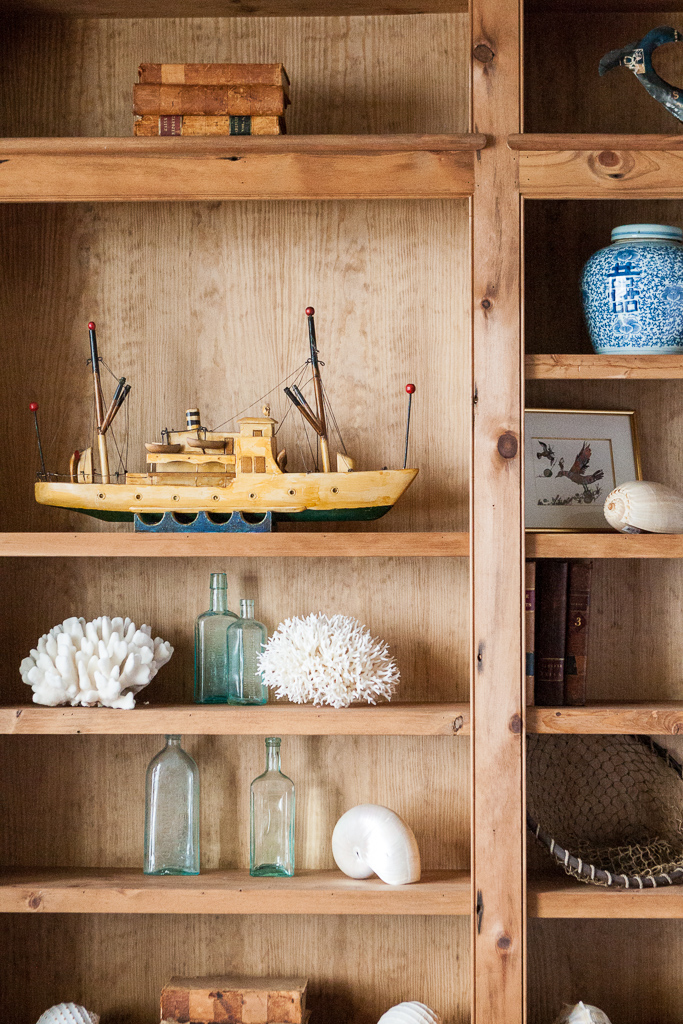 Shelving with Salvaged Finds