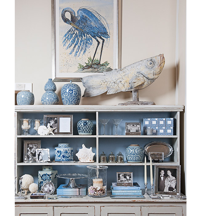 Hurlbutt Designs Western Ave retail store blue & white and coastal inspired accessories and decor.
