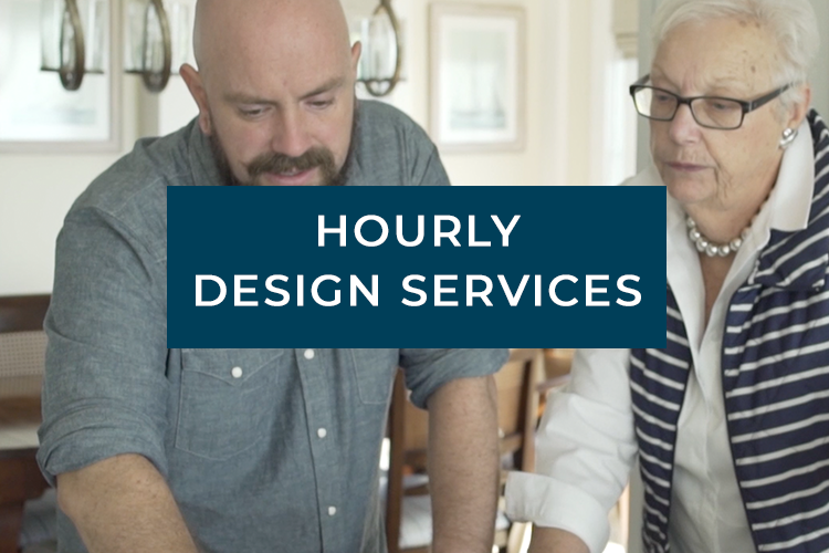 Louise Hurlbutt works with an interior design client to discuss design finishes