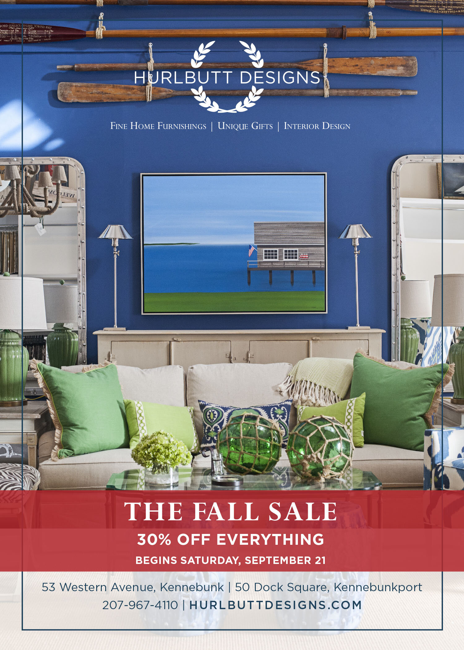 Save 30% On Everything During Our Fall Sale - Shop designer furniture, lighting, accessories, and more at BOTH store locations during our Fall Sale! Begins September 21, 2019.Happy Shopping!