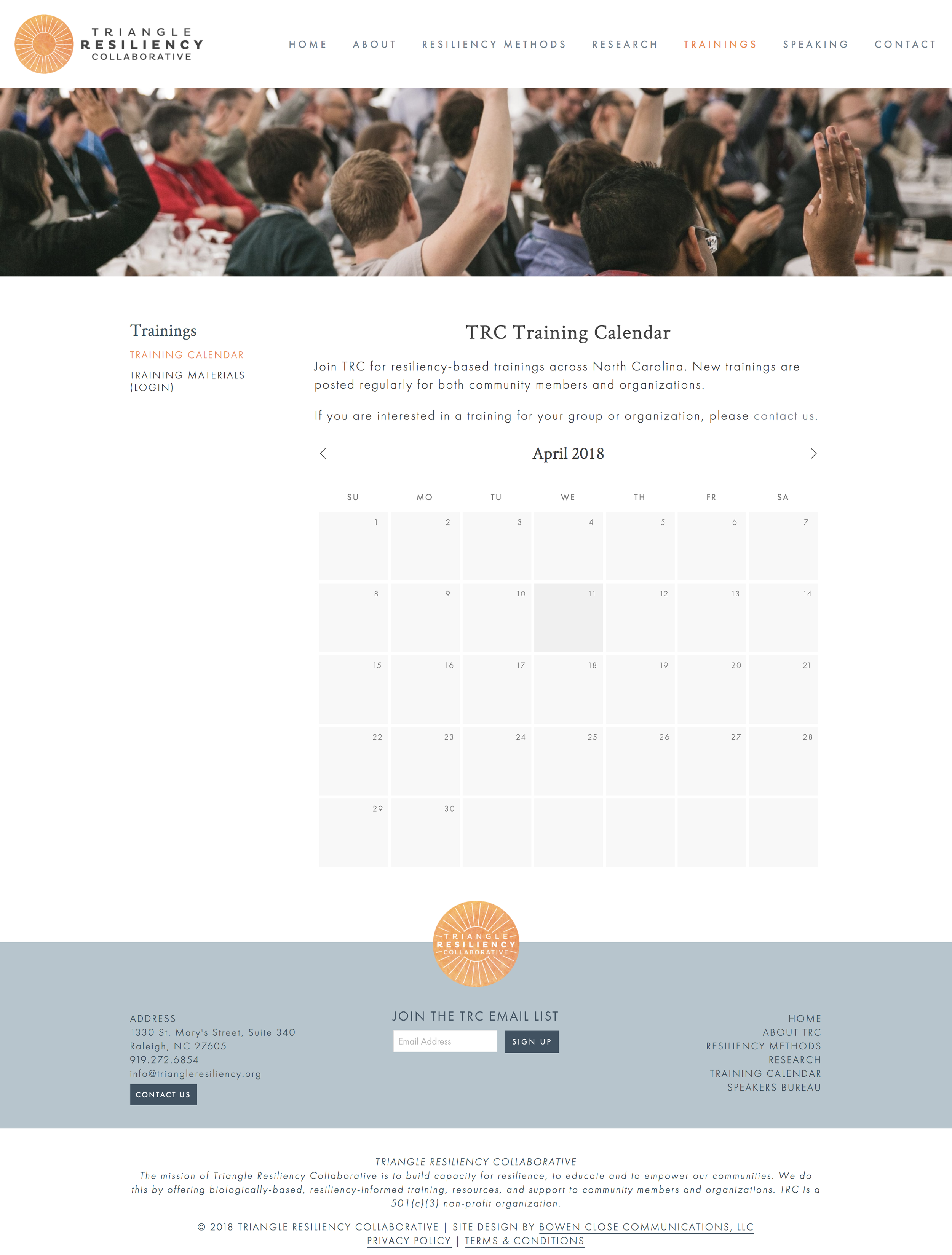Training Calendar — Triangle Resiliency Collaborative.png
