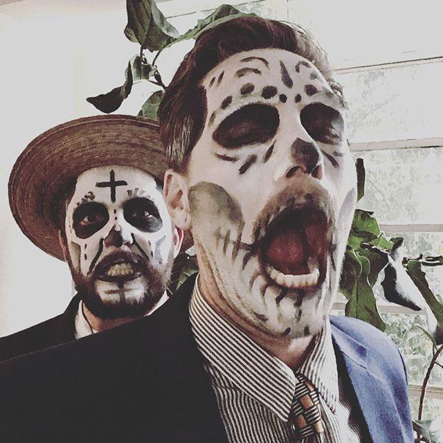 Dia de muertos in Mexico City. Spooky scary