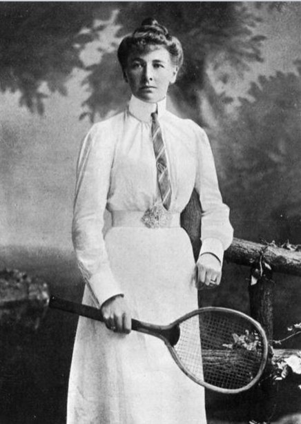 Charlotte Cooper Sterry (née  Charlotte Reinagle Cooper , 22 September 1870 – 10 October 1966) was a female  tennis player from England who won five singles titles at the  Wimbledon Championships and in 1900 became Olympic champion. In winning in Paris on july 11th 1900, she became the first female Olympic tennis champion as well as the first individual female Olympic champion.