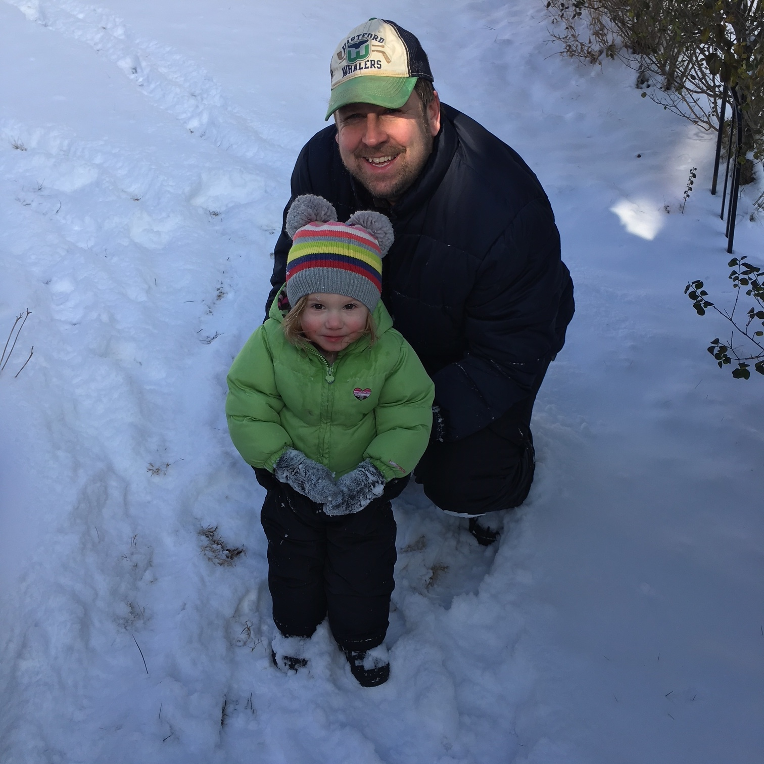 Jay and Edie playing in the snow