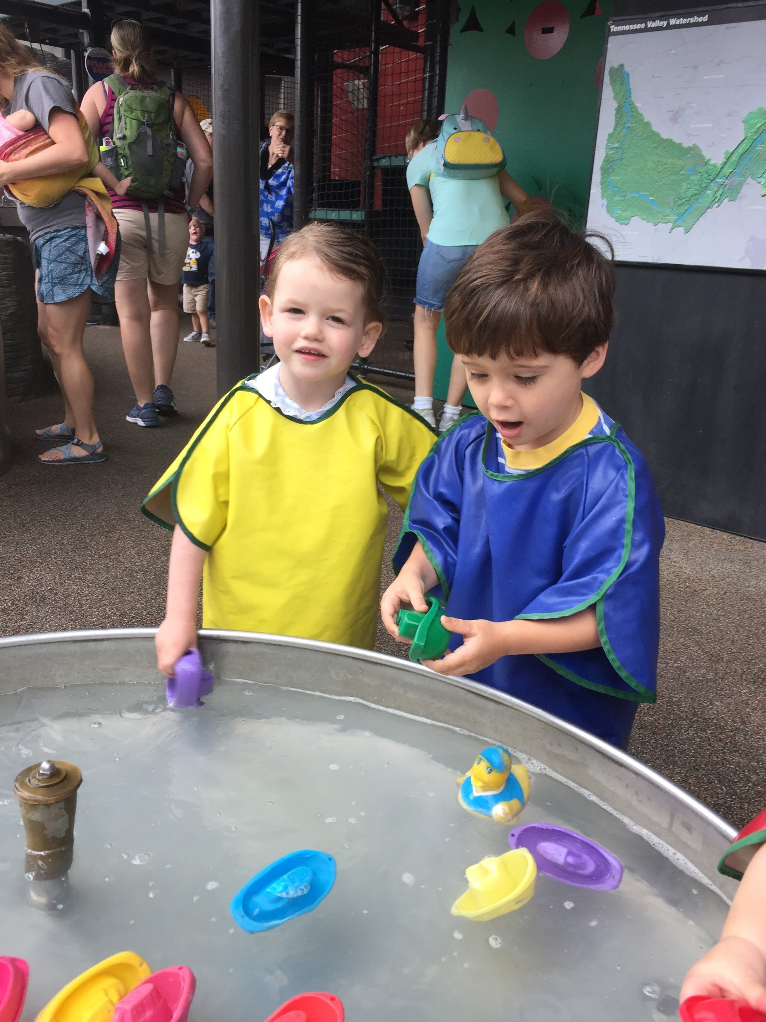 Playing at the Creative Discovery Museum with my cousin